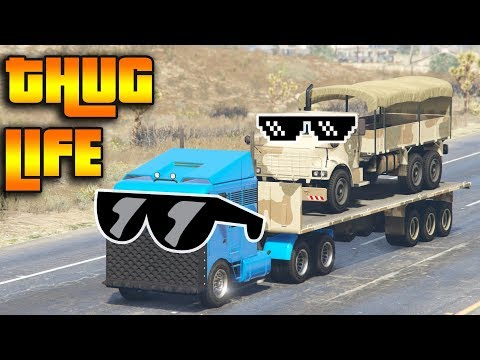 GTA 5 ONLINE : THUG LIFE AND FUNNY MOMENTS (WINS, STUNTS AND FAILS #24) Mp3