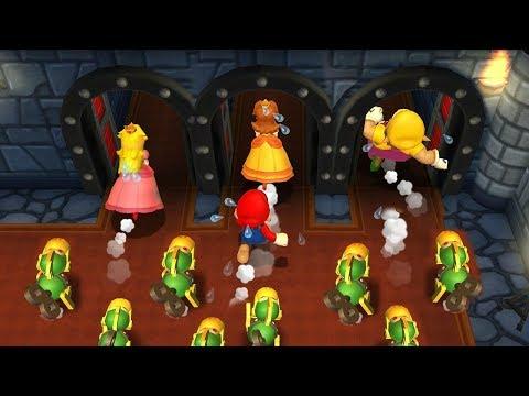 Mario Party 9 Step It Up - Peach vs Mario vs Wario vs Daisy Master Difficulty  Cartoons Mee