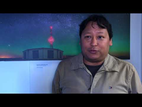 Dr José Bellido on a cosmic ray particles discovery