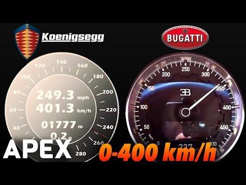 2018 Bugatti Chiron vs. Koenigsegg Agera RS - Acceleration Sound 0-100, 0-400 km/h | APEX