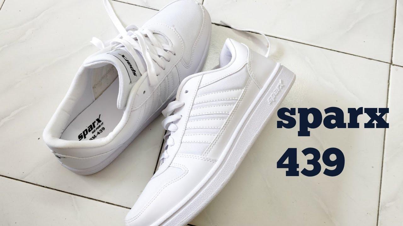 white shoes Sparx shoes sm 439 quick