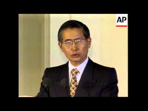 USA: WASHINGTON: PRESIDENT ALBERTO FUJIMORI WILL TALK WITH REBELS
