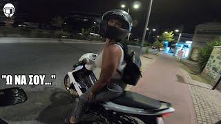 Ο BUSA και το κορίτσι με το παπάκι Yamaha Crypton X │ motovlog #177