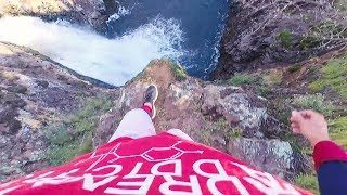 CLIFF JUMPING OFF MASSIVE WATERFALL  (California)
