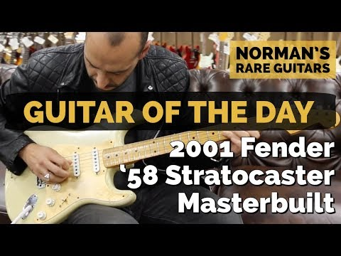 Guitar of the Day: 2001 Fender '58 Stratocaster Masterbuilt by John English | Norman's Rare Guitars
