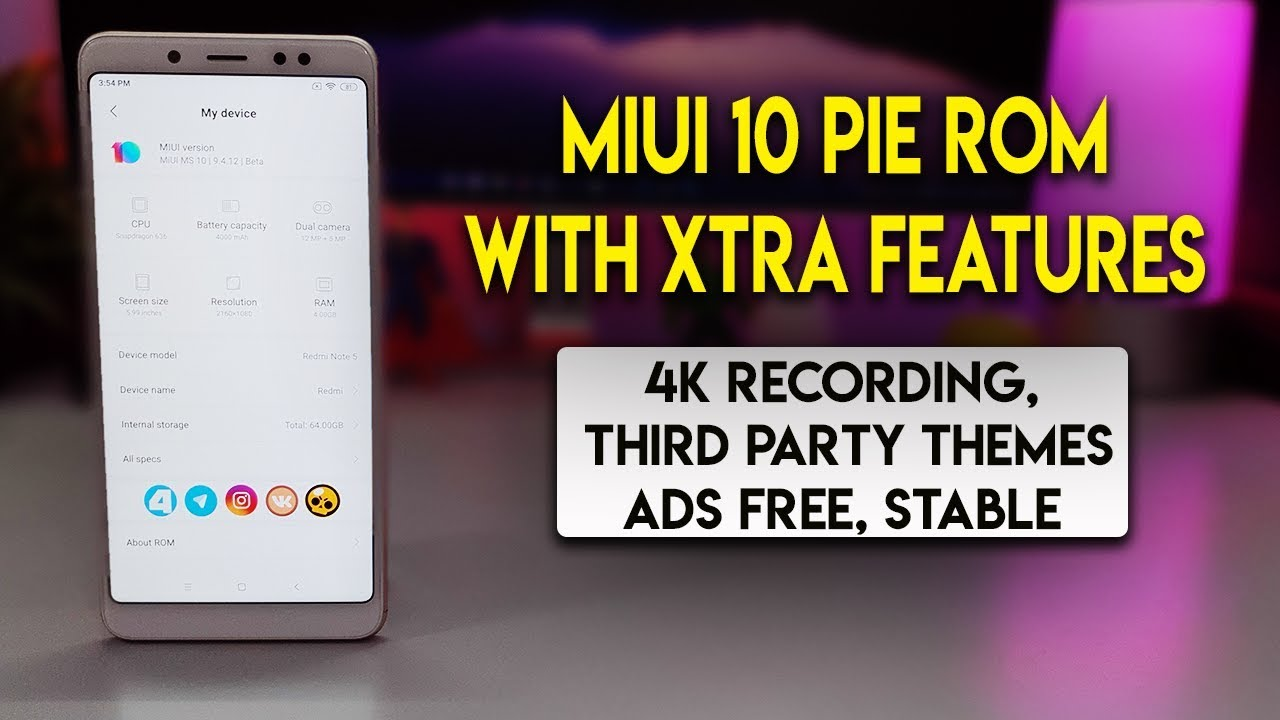MIUI MS MIUI 10 ANDROID PIE ROM PREVIEW | REDMI NOTE 5 PRO | हिन्दी