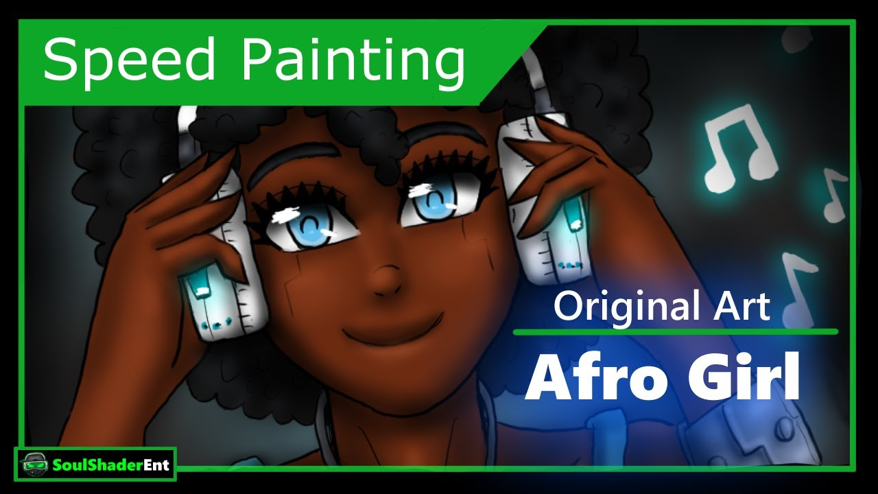 ❇️Afro Android Girl Speed Drawing