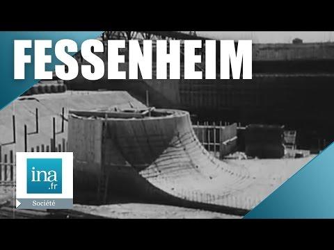 La construction de la centrale et le nouveau canal de Fessenheim en 1957 | Archive INA