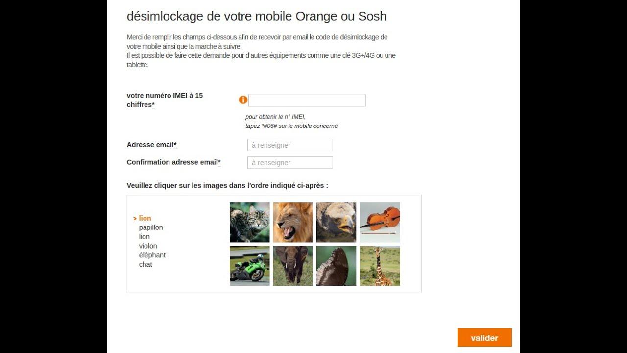 trouver imei portable orange