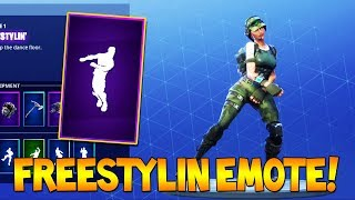 FREESTYLIN EMOTE ON ALL MY CHARACTERS! (Fortnite)