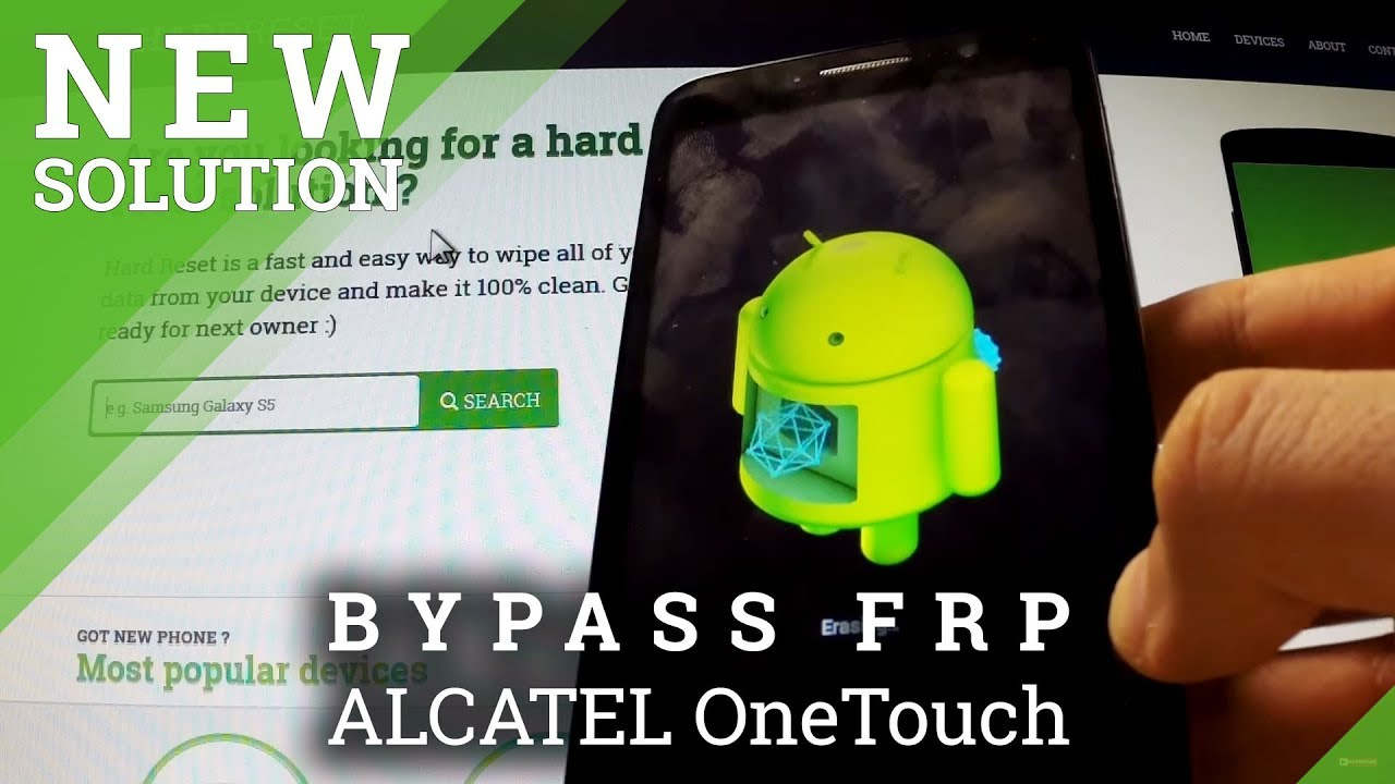 Bypass Google Account in Alcatel device - Remove Factory Reset Protection