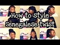 How to Style Senegalese Twist/Box Braids | Quick and Easy