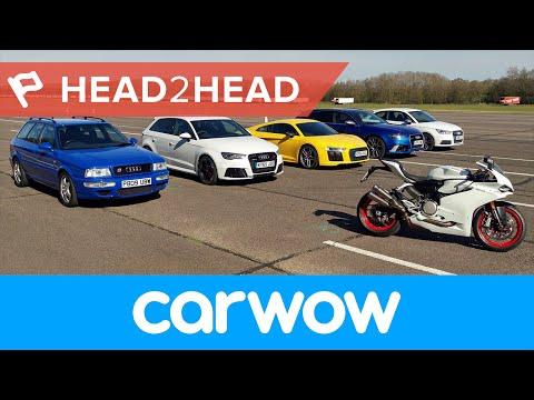Mega Audi Drag Race: R8, RS6, RS3, S1, RS2 and Ducati 4k review - Mat Watson