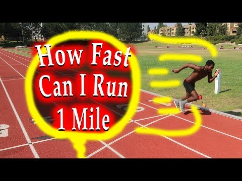How Fast Can I Run a Mile? Running Speed Test!
