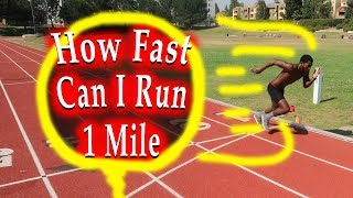 how fast can i run a mile? running speed test