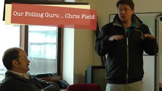 Foiling A Class Tuition in the classroom   With Chris Field at Rutland Water 11 4 15