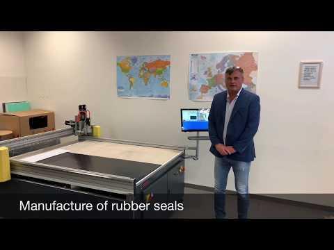 Řezání gumy - výroba těsnění