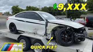 I Bought a Damaged BMW M Performance 435i From The Salvage Auction And FIX IT FULLY !