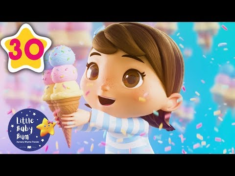 Ice Cream Song! | Animation For Kids | Kids Songs | Little Baby Bum | ABCs and 123s