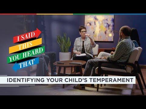How do I identify my child's temperament?