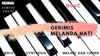 Tutorial Keyboard GERIMIS MELANDA HATI Erie Suzan (Melodi dan Akor Do=C)