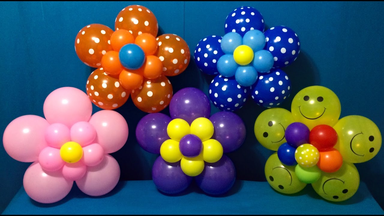 Dollar Store Balloon Decor Easy Giant Flowers