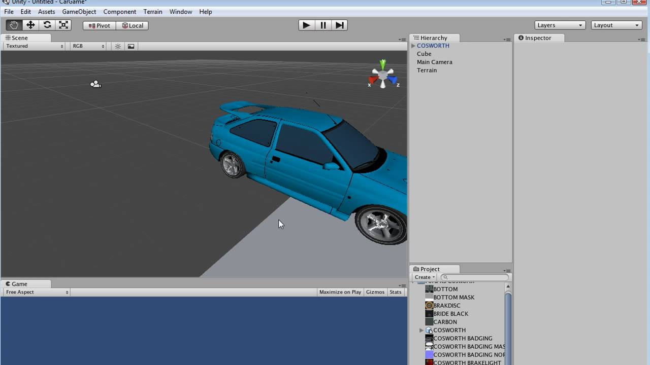 Unity 3D Car Game Tutorial Serie
