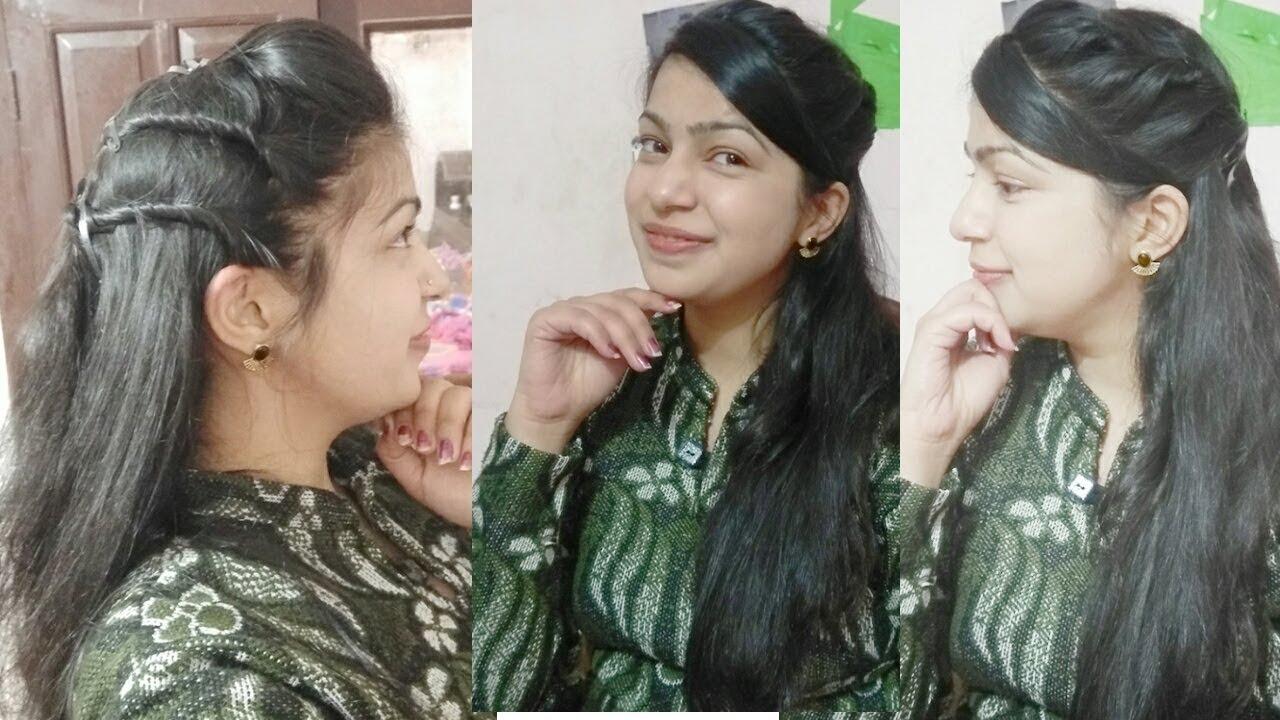 short hair hairstyles for saree || beautiful puff hairstyles for girls || puff hairstyles