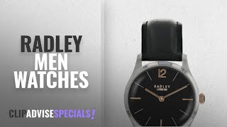 10 Best Selling Radley Men Watches [2018 ]: Radley Silver Stainless Steel Watch with Black Leather