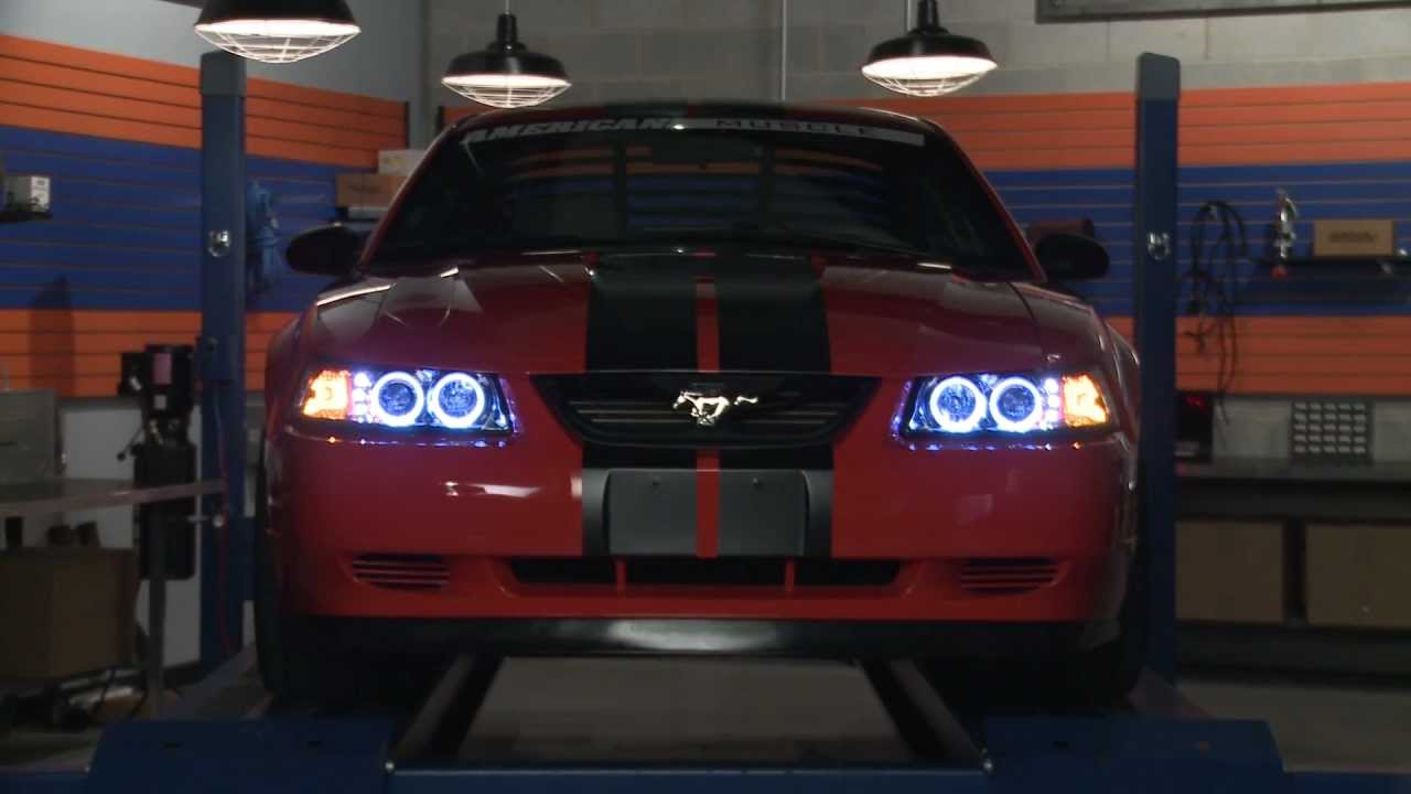 how to install projector headlights for 1999 2004 mustang americanmuscle [ 1280 x 720 Pixel ]