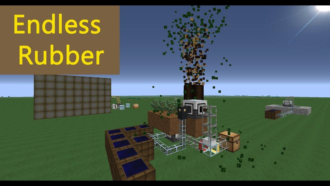 Minecraft Tutorial Unendlich Rubber Rubber Farm Hd Deutsch Youtube