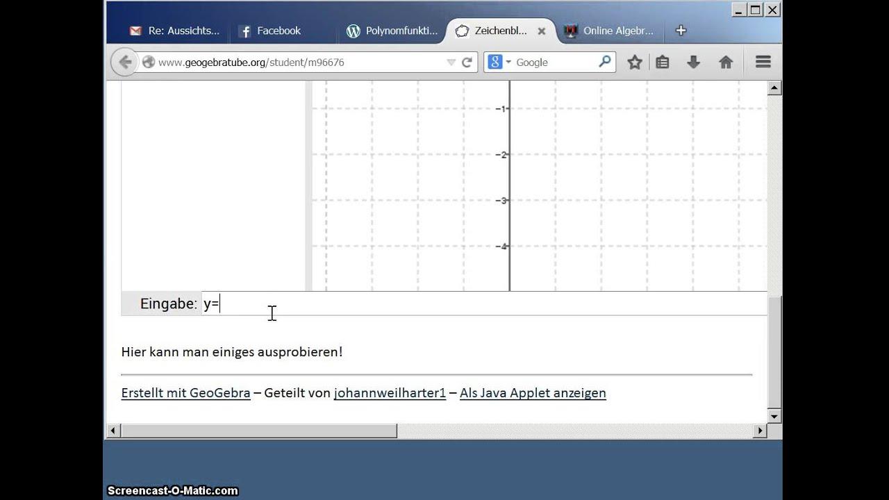 polynomfunktion berechnen und zeichnen youtube