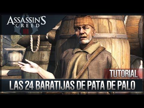 Assassin's Creed 3 - Walkthrough - Localización de todas las 24 Baratijas de Pata de Palo