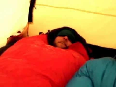 Inside the Hilleberg Nammatj tent on Denali