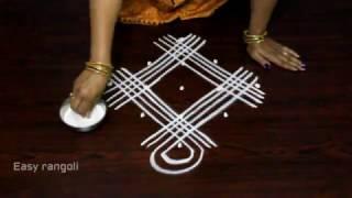 geethala muggulu with 5x1 dots || simple kolam designs || easy rangoli designs
