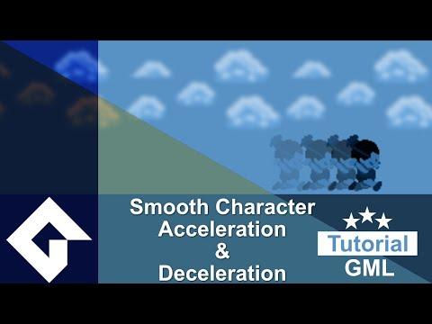 Gamemaker Studio 2 : Acceleration & Deceleration In Character Movement