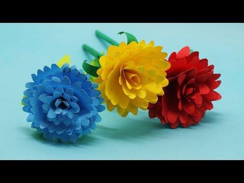 How to Make Origami Paper Dahlia Flower  Making DIY Dahlia Flower