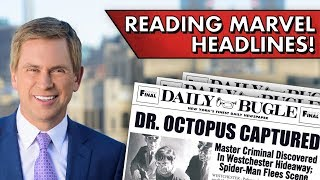 MCU Newscaster Reads Marvel Headlines!