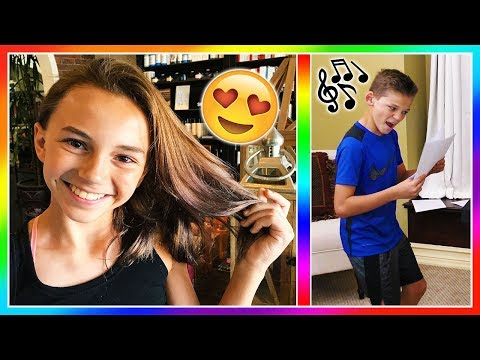 IS KAYLA'S HAIR SCHOOL APPROVED? | TYLER STARTS SINGING LESSONS | We Are The Davises