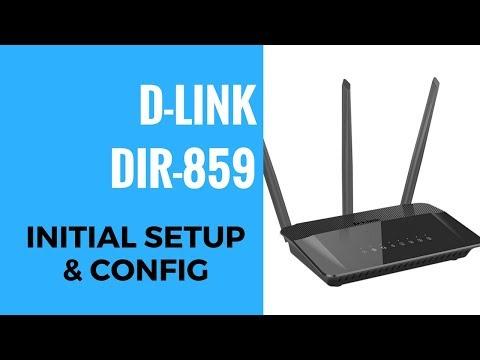 D-LINK AC1750 DIR-859 Initial Setup And Config