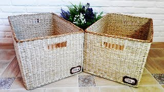How to Make a Storage Box from Newspaper Tubes / Order on the Shelves