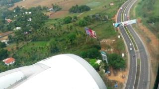 Aerial View of Periyar River & Landing at Kochi Airport
