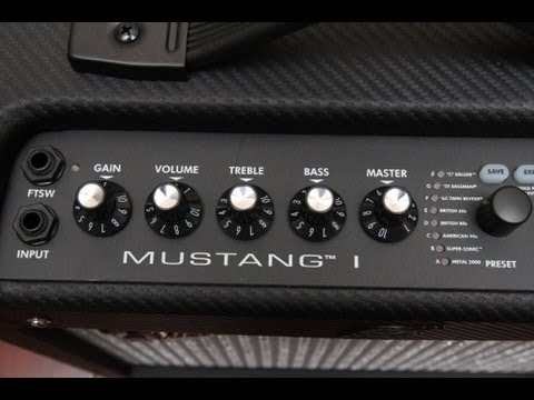 fender mustang 1 modeling amp demo - todd's gear demos - youtube