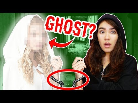 HANDCUFFED TO A GHOST FOR 24 HOURS (solving hacker clues at 3am in real life challenge)