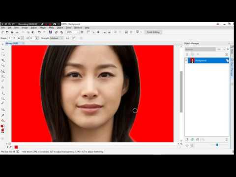 Cara Mengubah Background Foto Di Corel Draw X7 - YouTube