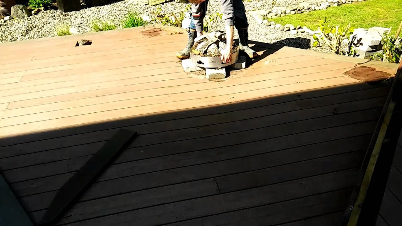 First Generation Trex Deck Boards Removal