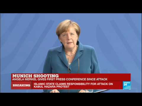 Germany - German Chancellor Angela Merkel gives first press conference since Munich attack