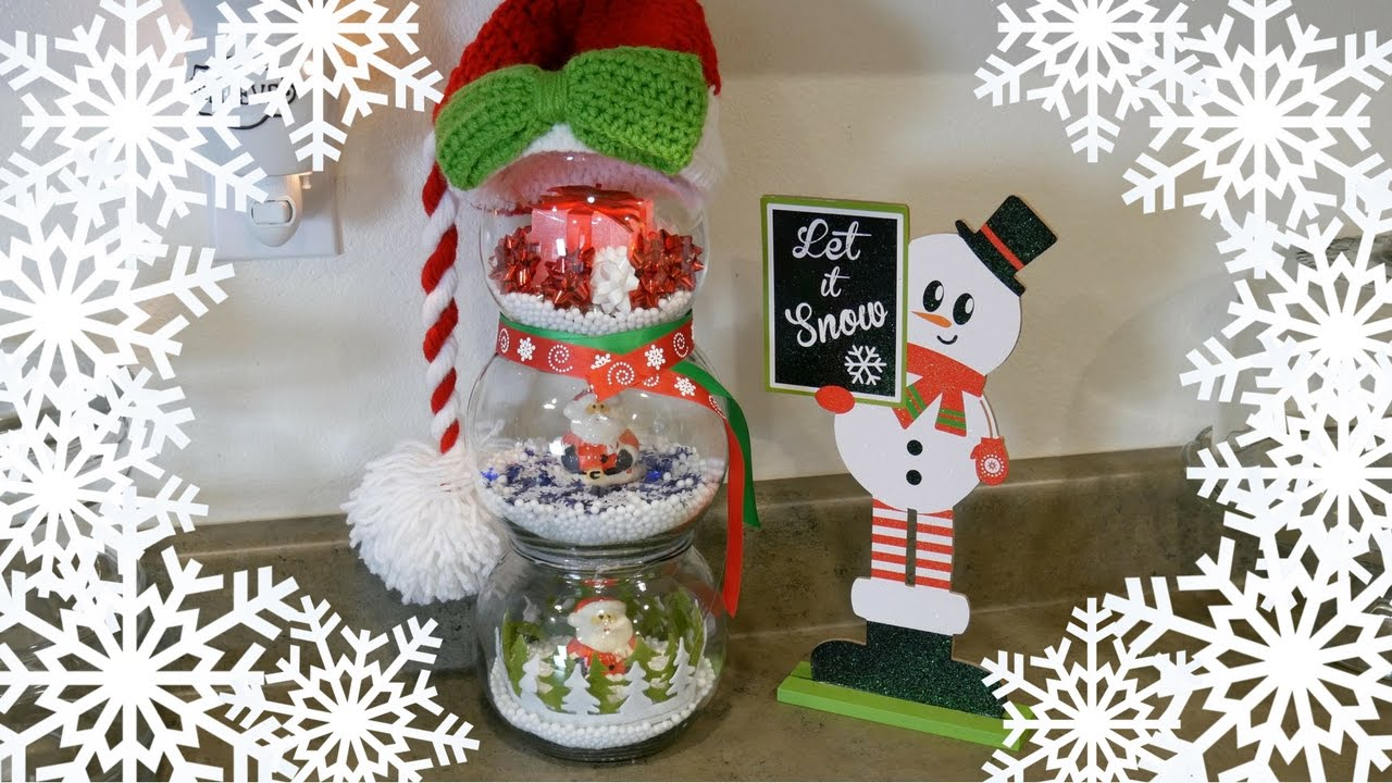 DIY Fishbowl Snowman | DOLLAR TREE - 99 CENT STORE - THRIFT STORE ...