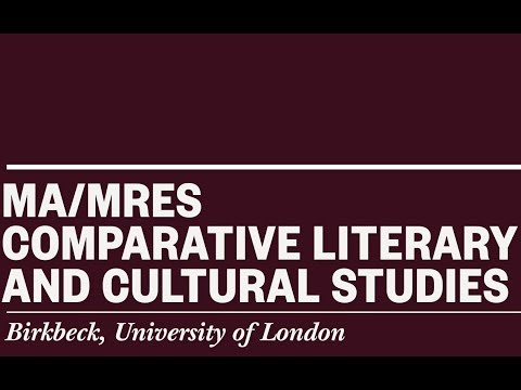 Studying MA Comparative Literary and Cultural Studies at Birkbeck