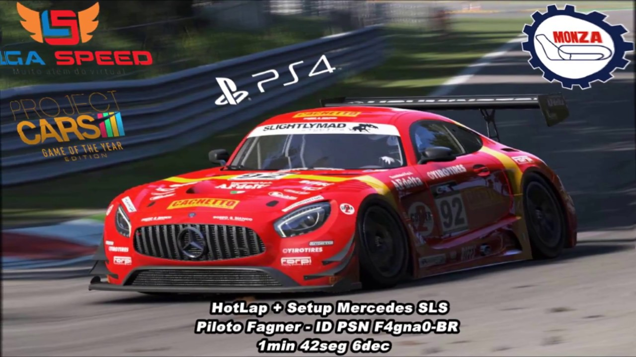 Project cars new mercedes amg gt3 previews virtualr sim racing - Hotlap Setup Monza 1 42 6 Project Cars Gt3 Mercedes Sls